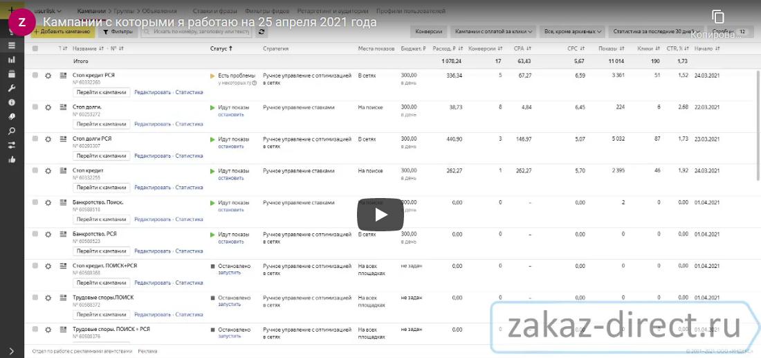 Примеры рекламных кампаний youtube
